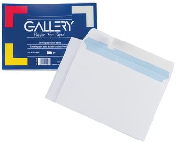 Gallery enveloppes, ft 114 x 162 mm avec bande adhésive, paquet de 50 pièces