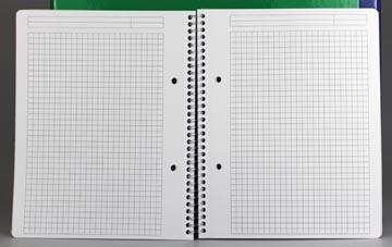 Gallery cahier à reliure spirale Traditional A4, 4 trous, quadrillé 5 mm, couleurs assorties, 160 pages