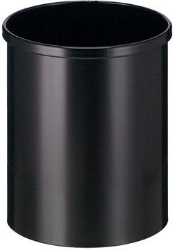Eko poubelle en métal, contenu 15 L, noir