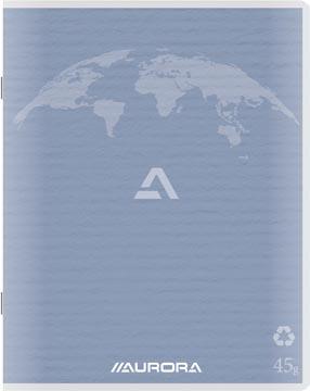 Aurora Writing 60 cahier de brouillon en papier recyclé, 200 pages, quadrillé 5 mm, bleu clair