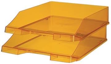 Han bac à courrier C4 orange transparent