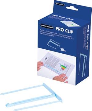 Bankers Box relieur Pro-clip, boîte de 20 pièces, blue clair