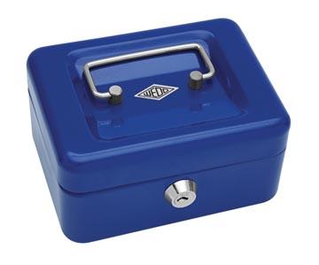 Wedo coffret à monnaie, ft 12,5 x 11,5 x 8 cm, bleu