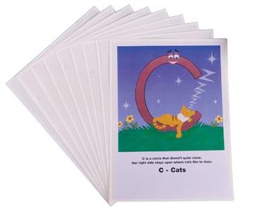 3L pochette adhésif pour ft A4 transparant, paquet de 10 pièces