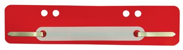 Fixe-dossiers, rouge, boîte de 100 pièces