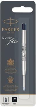 Parker Quinkflow recharge pour stylo bille, pointe fine, noir, sous blister
