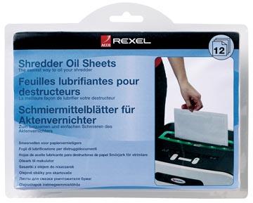 Rexel feuilles pré-lubrifiées, paquet de 12 pièces