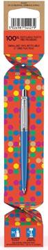 Parker Jotter Originals Cracker stylo bille, Denim Blue (bleu denim)