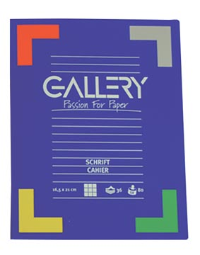Gallery cahier, 72 pages, ligné