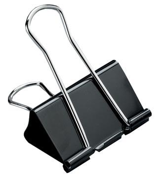 STAR clip foldback, 51 mm, noir, boîte de 12 pièces