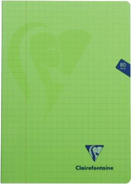 Clairefontaine cahier mimesys pour ft A4, 80 pages, couverture en PP, quadrillé 10 mm, couleurs assorties