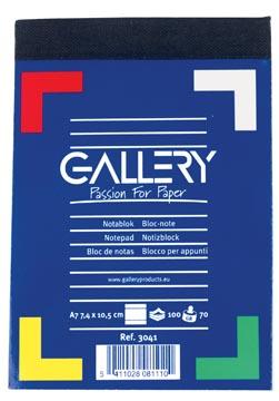 Gallery carnet de notes, ft A7, ligné, 60 g/m²