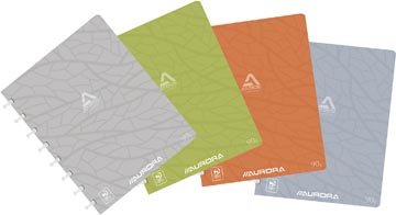 Adoc cahier Design, ft A5, 144 pages, couverture en carton, quadrillé commercial, couleurs assorties