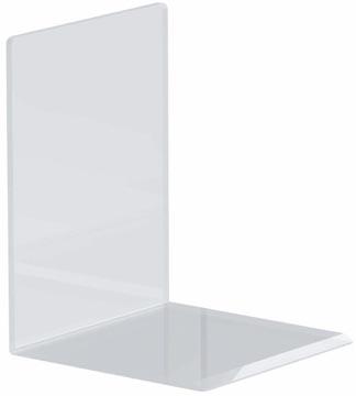 Maul serre-livres ft 10 x 10 x 13 cm, transparent, paquet de 2 pièces