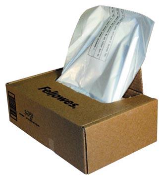 Fellowes sacs de 121 - 143 litre pour destructeurs, paquet de 50 sacs