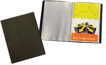 Beautone protège documents, A4, 40 pochettes, noir