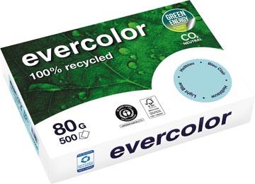 Clairefontaine Evervolor papier couleur recyclé, A4, 80g, 500 feuilles, bleu vif