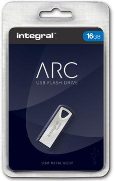 Integral ARC clé USB 2.0, 16 Go, argent