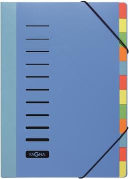 Pagna trieur Trend pour ft A4, 12 compartiments, bleu