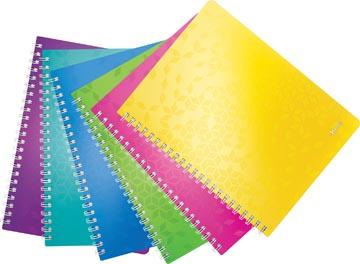 Leitz WOW cahier, ft A4, ligné, couleurs assorties
