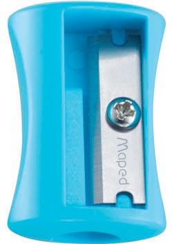 Maped taille-crayon Vivo 1 trou, présentoir de 75 pièces en couleurs assorties