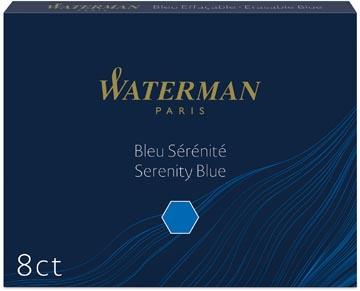 Waterman cartouches d'encre Standard 23, bleu Florida, paquet de 8 pièces