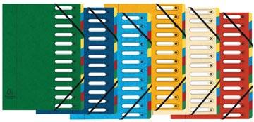 Exacompta trieur-classeur Harmonika, 12 compartiments couleurs assorties
