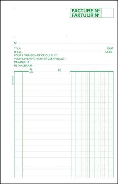 Exacompta facturier, ft 21 x 13,5 cm, bilingue, dupli (50 x 2 feuilles)