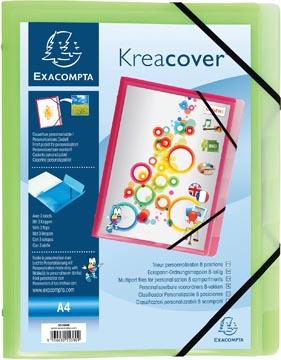 Exacompta trieur Kreacover polypropylène 3 rabats, 8 compartiments, couleurs assorties