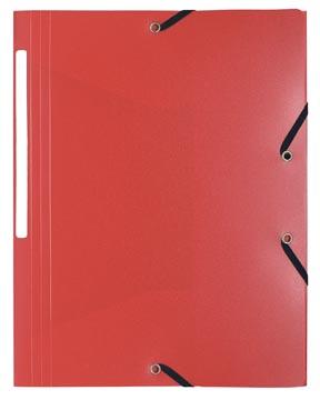 Exacompta chemise à rabats et élastiques A4, PP, rouge