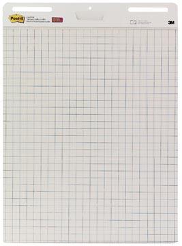 Post-it meeting chart, ft 63,5 x 77,5 cm, quadrillé, 30 feuilles, pacquet de 2 blocs