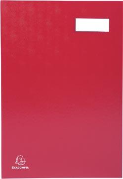 Exacompta signataire pour ft 24 x 35 cm, en carton couverte avec pvc, 20 compartiments, rouge