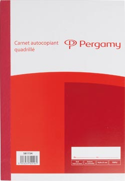 Pergamy orderbook, autocopiant, en trois exemplaires, 3 x 50 feuilles, format 14,8 x 21 cm