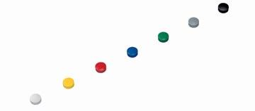 Maul aimant Solid, diamètre 15 mm x 7 mm, couleurs assorties, boîte de 10 pièces