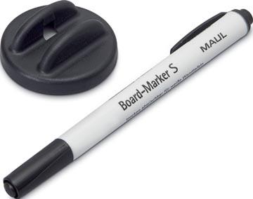 Maul frotteur avec marqueur pour tableaux blancs S noir, magnétique