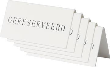 Securit panneau de table 'Geresveerd', paquet de 5 pièces