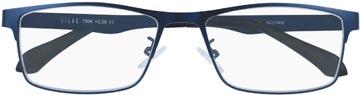 SILAC Blue Metal lunettes de lecture, métal san nickel bleu mat, +2,00