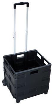 Chariot pliant avec bac de stockage, ft 38 x 40,5 x 42 cm, maximum 35 kg