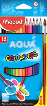 Crayon de couleur aquarellable Color'Peps Aqua 12 crayons