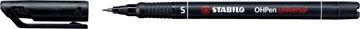 STABILO OHPen universal, OHP-marqueur, permanent, extra fine 0,4 mm, noir