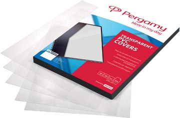Pergamy couvertures en PVC, transparent, ft A4, 300 microns , paquet de 100 pièces