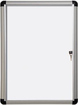 Pergamy Excellence vitrine en verre avec surface magnétique Extra Slim ft 4 x A4