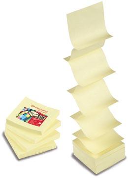 Pergamy z-notes accordéon, ft 76 x 76 mm, jaune