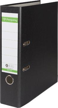 Pergamy classeur, pour ft A4, en carton recouvert de Plastique Recycolor, dos de 8 cm noir