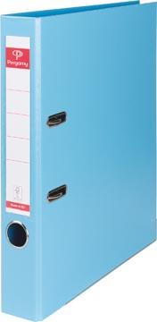 Pergamy classeur, pour ft A4, entièrement en PP, dos de 5 cm, bleu clair
