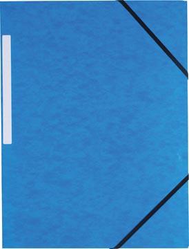 Pergamy chemise à élastiques, à 3 rabats, bleu foncé, paquet de 10