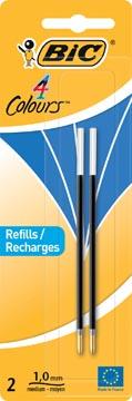 Bic recharge pour stylo bille 4 Colours Medium, blister de 2 pièces, bleu