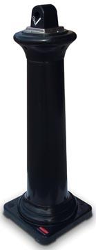 Rubbermaid collecteur des cigarettes Tuscan, ft 36 x 36 x 103 cm, noir
