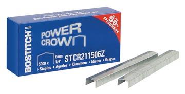 Bostitch agrafes STCR211506Z, 6 mm, pour B8R, B8HC, B8HDP, B8P, B8E, boîte de 5.000 agrafes