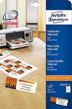 Avery Cartes de nom imprimables, boîte de 100 pièces (ft 110 x 40 mm)